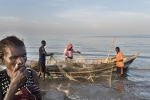 Kenya, Turkana County, March 2018 - Small fisherman's village (Kataboi) near Kalokol. About 10% of Turkana's people have chosen